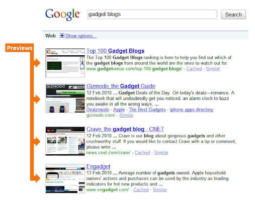 拡張機能 SearchPreviewの画像