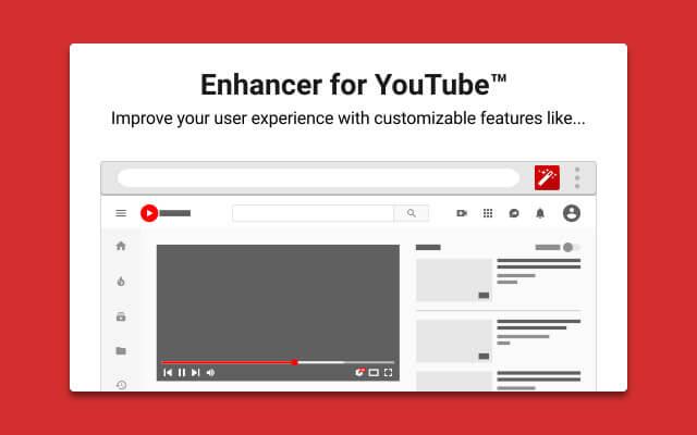 拡張機能Enhancer for YouTube™ の画像