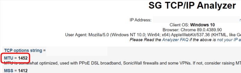 SG TCP/IP Analyzerの画面