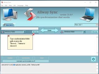 allway sync設定画面